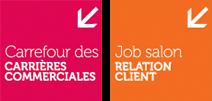 vignettes carrefour des carrières commerciales et job salon relation client
