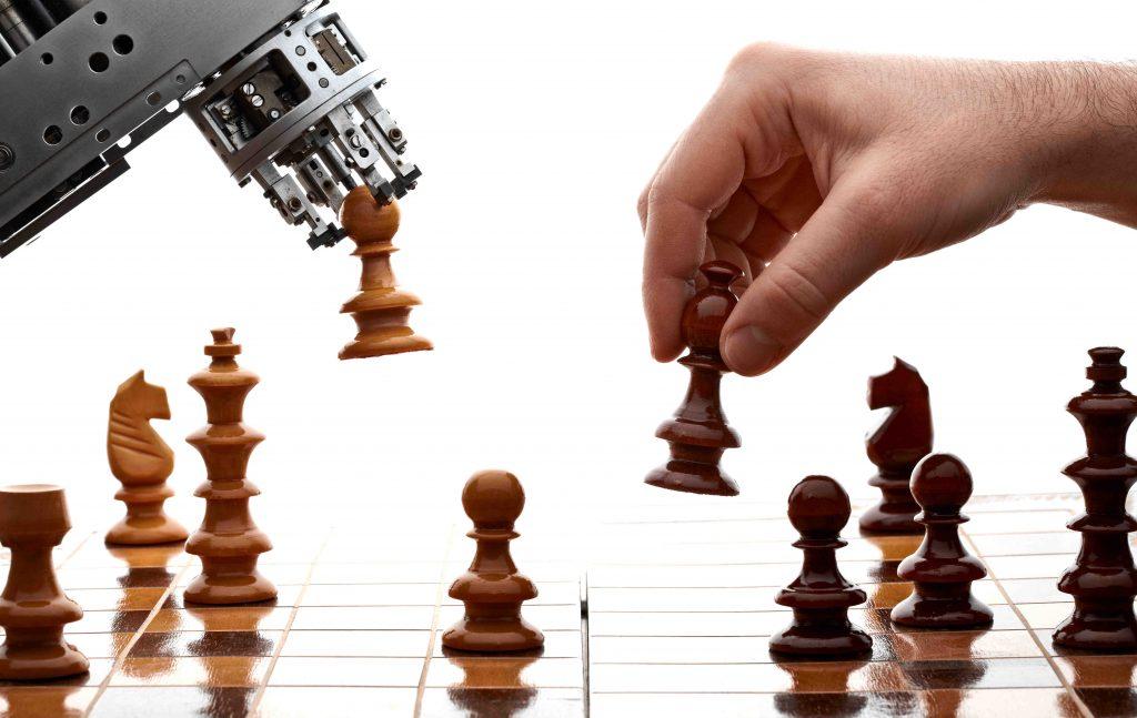 jeu d'échec humain et robot